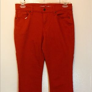 Old navy cropped kick flare  mid rise jeans size 8